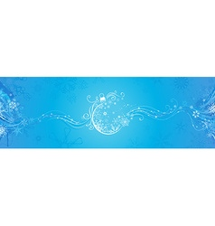 Blue Christmas banner vector image vector image