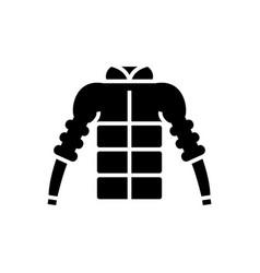 down jacket icon black sign vector image