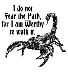 Scorpion worthy of the path vector image vector image