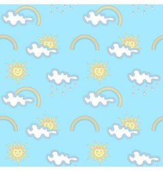 Seamless weather pattern vector image vector image
