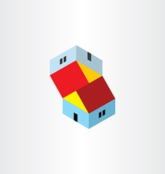 Unreal houses icon vector