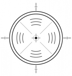 gun sight grid vector image