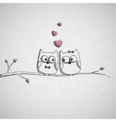 hand drawn owls vector image vector image