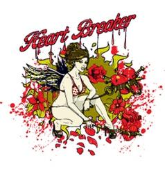 Heart breaker girl vector image vector image