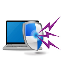laptop computer security vector image vector image