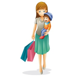 a mother and a kid vector image vector image