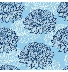 abstract hand drawn chrysanthemums vector image