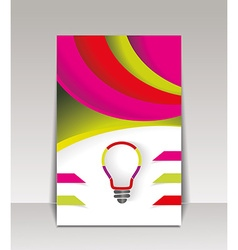 brochure template design with creative light bulb vector image vector image