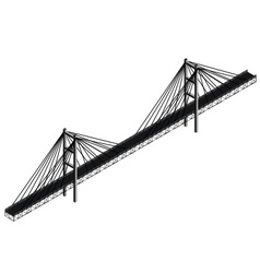 isometric cable stayed bridge vector image vector image