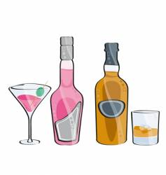 whisky and cocktail vector image