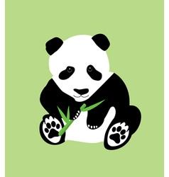 bamboo panda green vector image