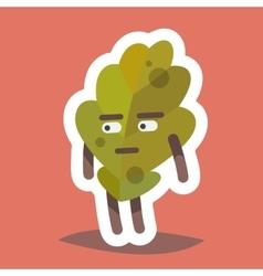 Emoticonn Icon Suspicious Leaf vector image vector image