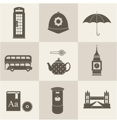 London vintage icons vector image vector image