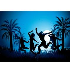 tropical beach dancers vector image vector image