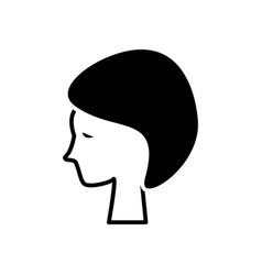 woman face in spa icon black vector image