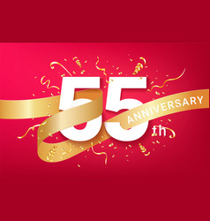 55th anniversary celebration banner template vector