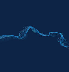 abstract digital wave particles flow vector image