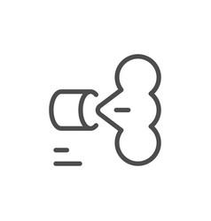 Air pollution line icon vector