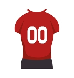american football player uniform vector image