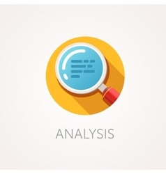 Analysis Icon Flat design style with long shadow vector