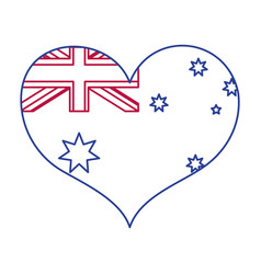 Australian heart design vector