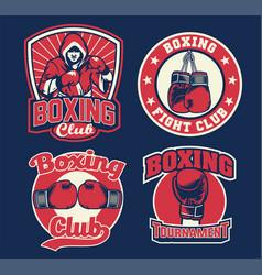 Badge design boxing vector