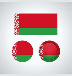 belarus trio flags vector image