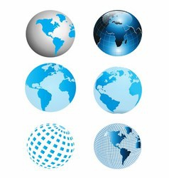 Blue Earth Globe Collection vector image