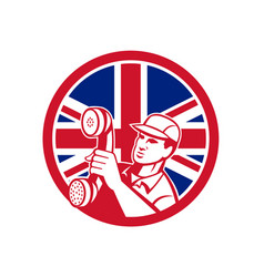 British telephone installation repair technician vector
