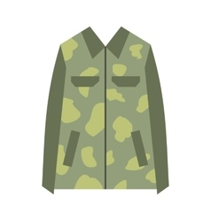Camouflage jacket flat icon vector