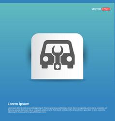 car mechanic icon - blue sticker button vector image