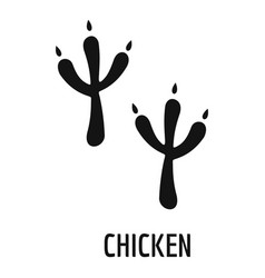 chicken step icon simple style vector image