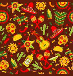 cinco de mayo celebration in mexico seamless vector image