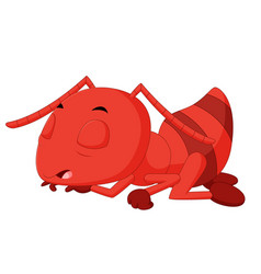 Cute ant sleeping vector