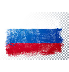 distortion grunge flag russia vector image