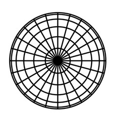 Earth planet globe grid black thick meridians vector
