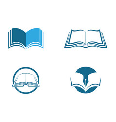 Education logo template design vector