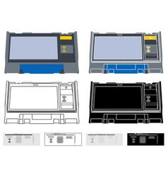 electronics ballot box argentina vector image
