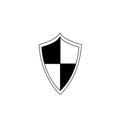 emblem badge and icon a blank black and white vector image