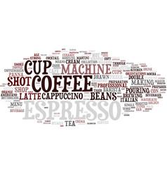 Espresso word cloud concept vector
