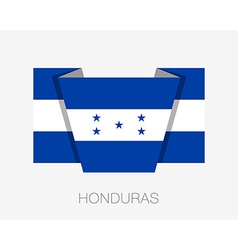 Flag of Honduras Flat Icon vector image