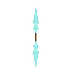 game weapon icon sword cartoon fantasy medieval vector image