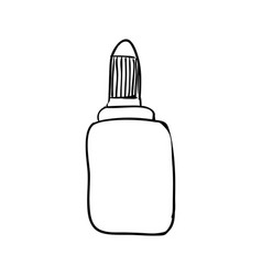 glue bottle draw vector image