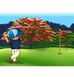Golf court vector image
