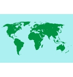 green world map vector image vector image