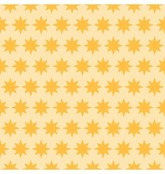 Holiday orange star seamless pattern vector image