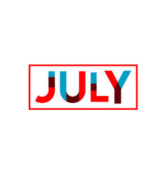 july template design vector image