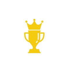 king trophy logo icon design vector image