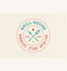 logo for grill house restaurant vector image