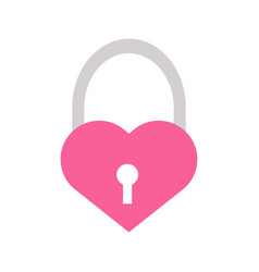love heart padlock graphicl vector image